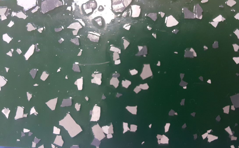 Образцы полимерных покрытий с флоками (фото)